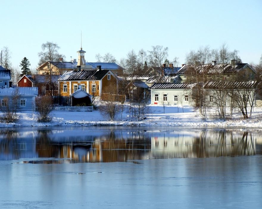 Фото города Сулу Финляндия