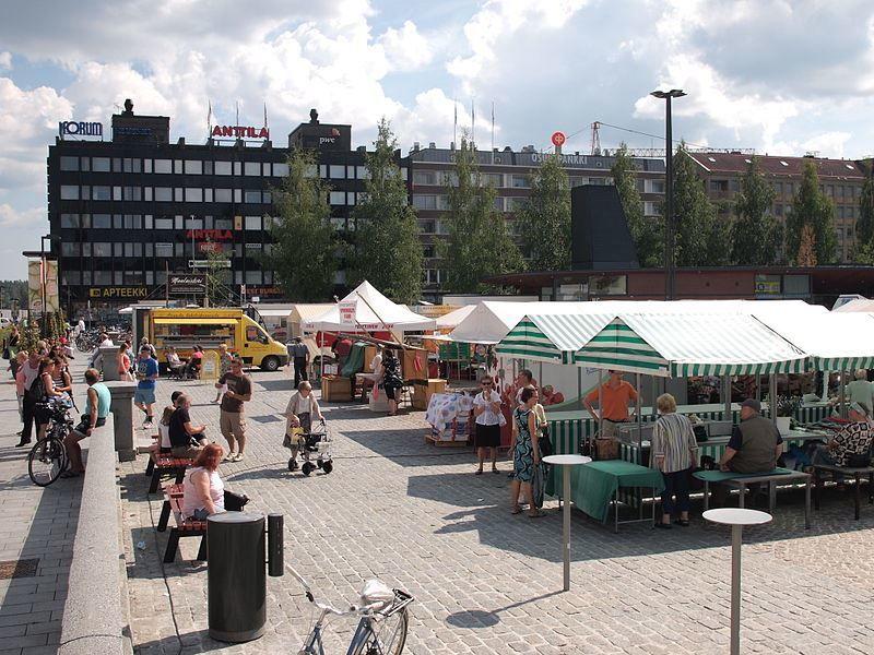 Рынок город Миккели Финляндия