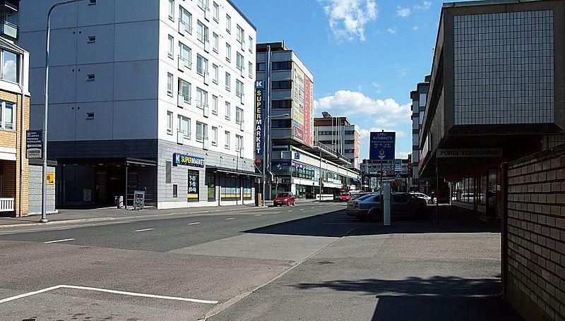 Улица город Пори Финляндия