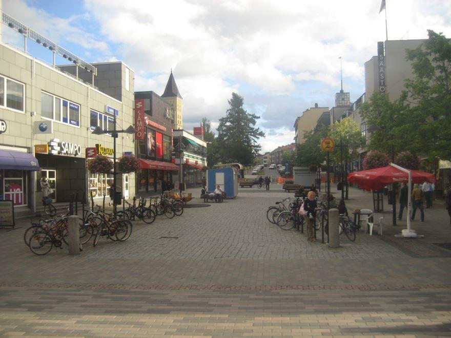Улица город Лаппеенранта