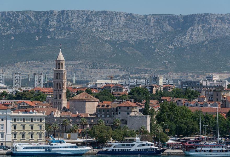 Вид на город Сплит Хорватия