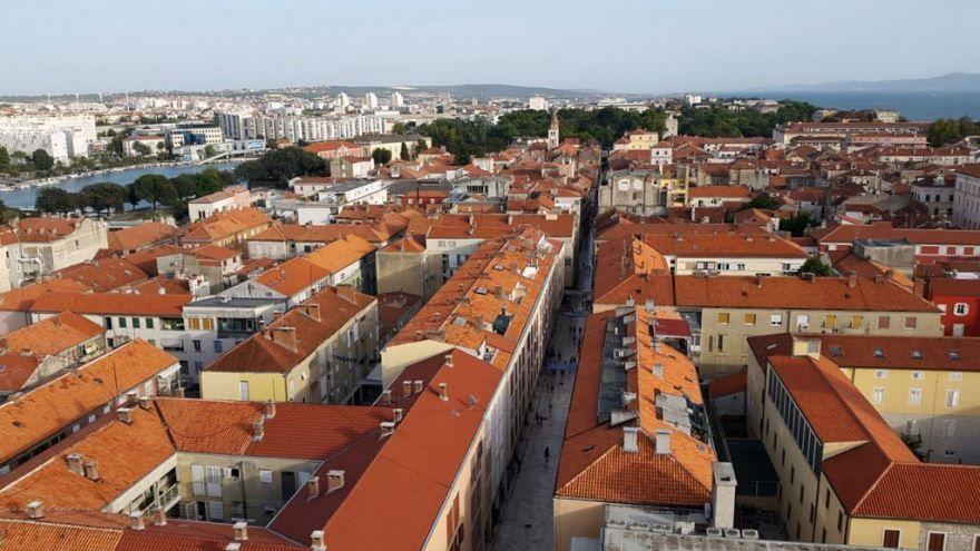 Панорама город Задар