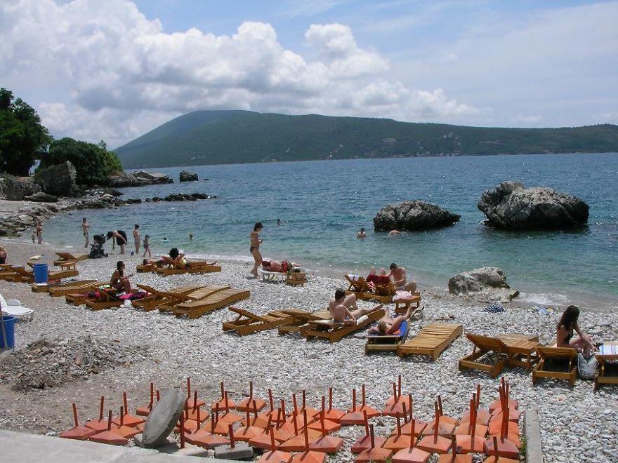 Пляж город Херцег-Нови