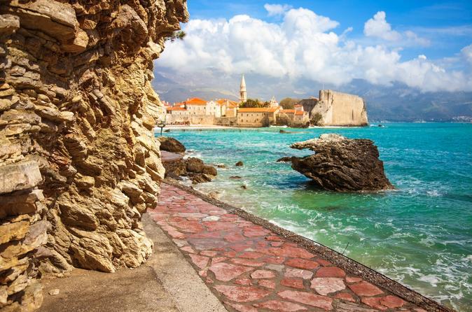 Красивое фото побережье города Котор