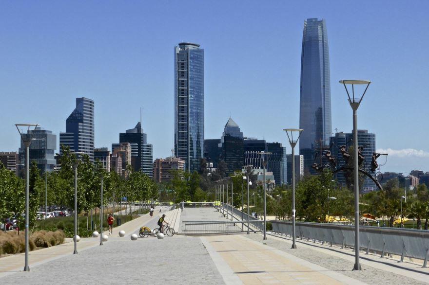 Улица город Сантьяго Чили
