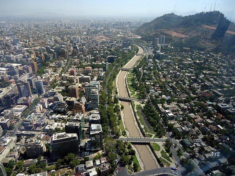 Вид на город Сантьяго Чили