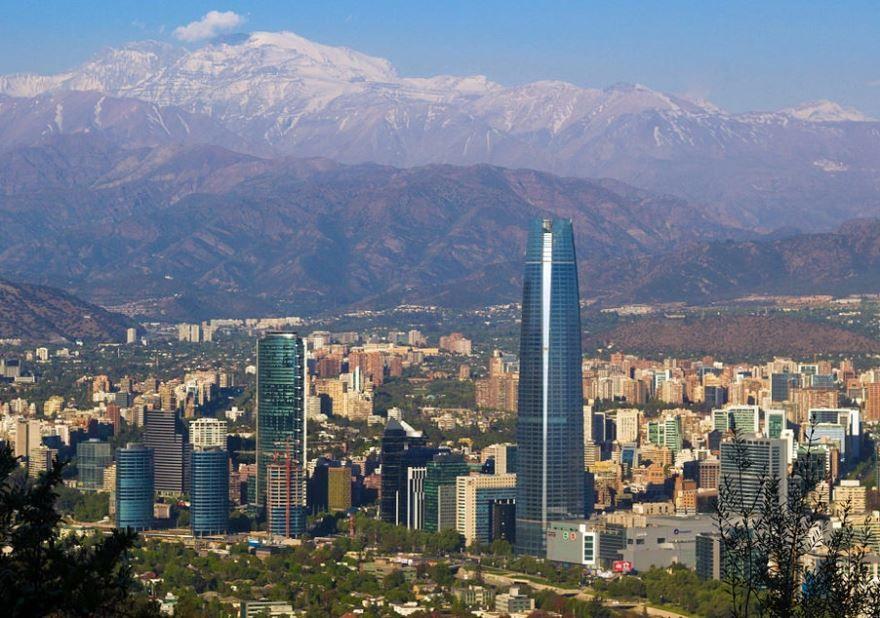 Панорама города Сантьяго Чили