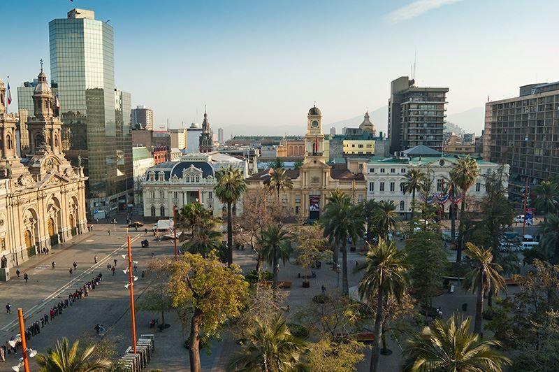 Смотреть красивое фото город Сантьяго Чили