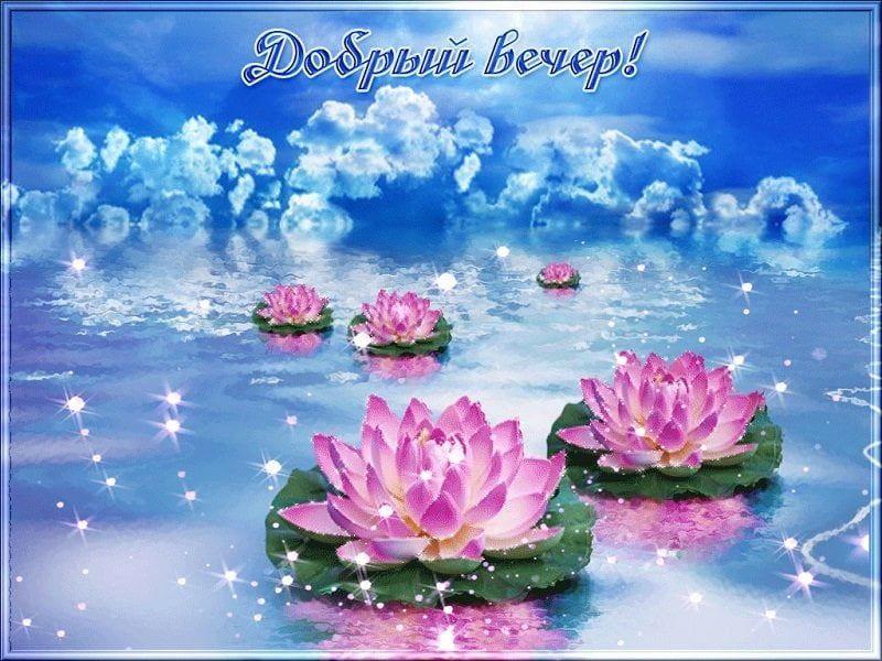 Пожелания доброго вечера и спокойной ночи красивая картинка