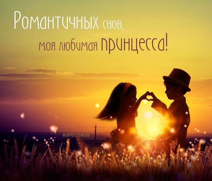 Красивая картинка доброй ночи любимой девушке