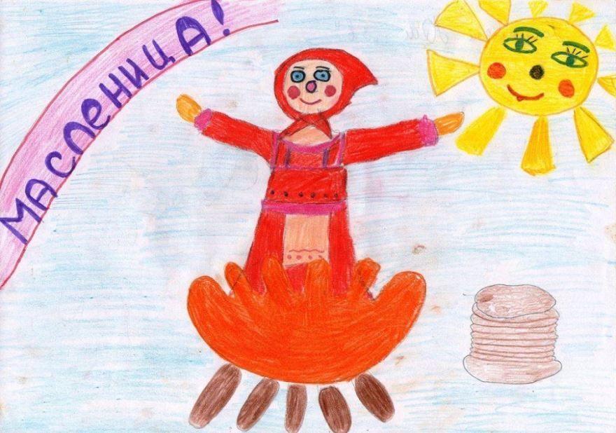 Масленица рисунки детей