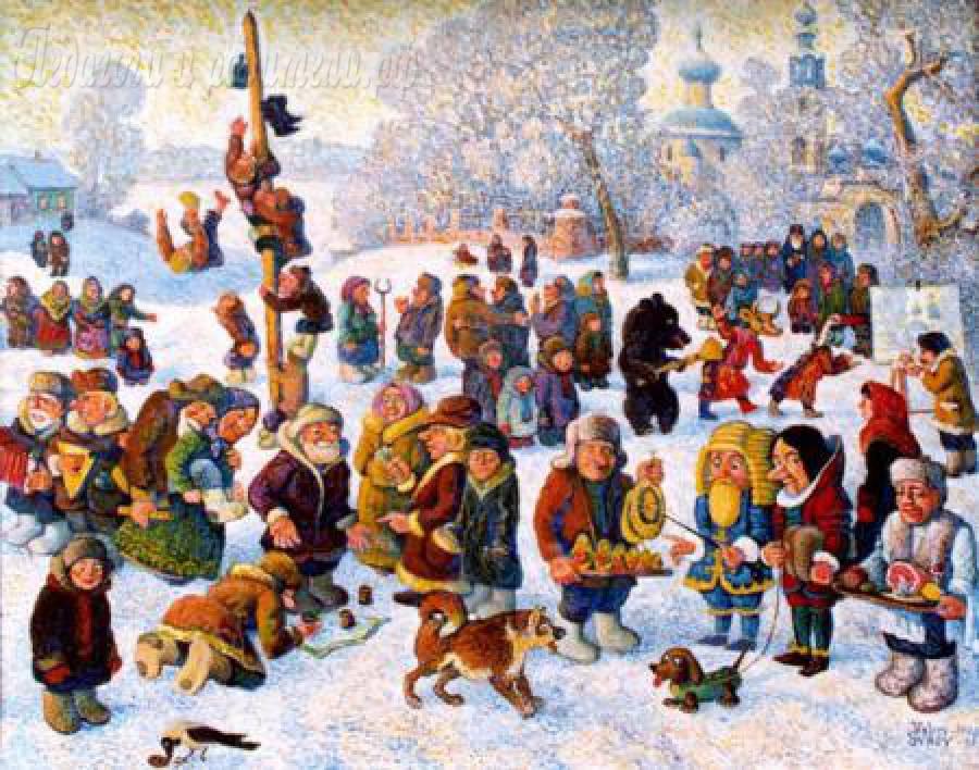 Масленица праздника на улице для народа красивая картинка