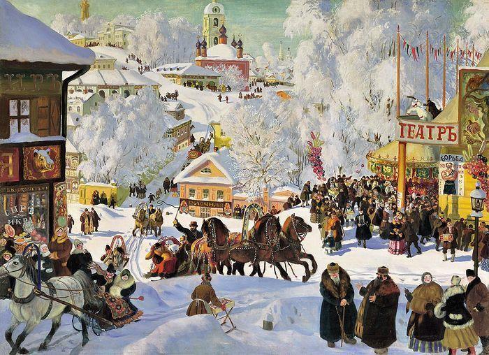 Масленица в России красивая картинка