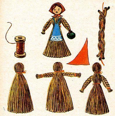 Фотография куклы на масленицу