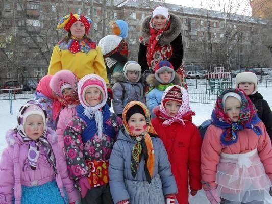 Празднование масленицы в детском саду
