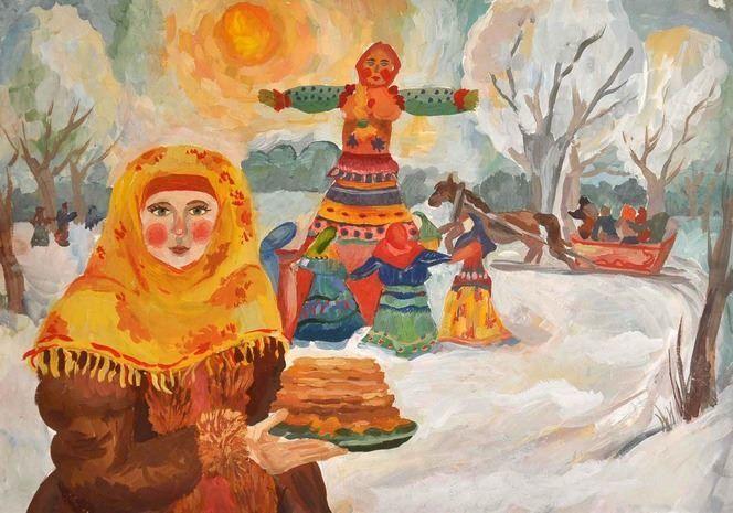 Праздник Масленица рисунок