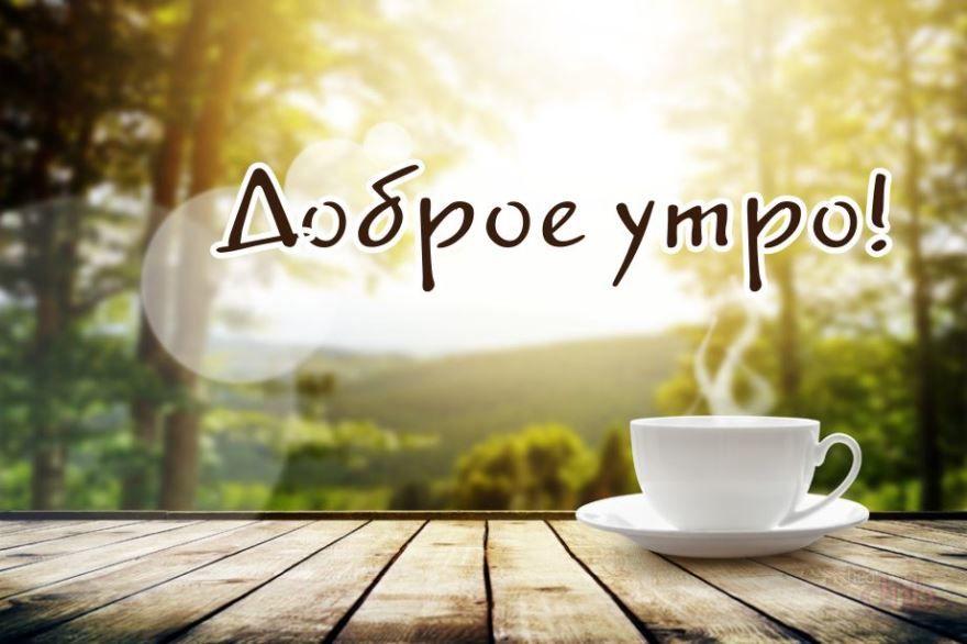 Открытка доброе утро и хорошего дня