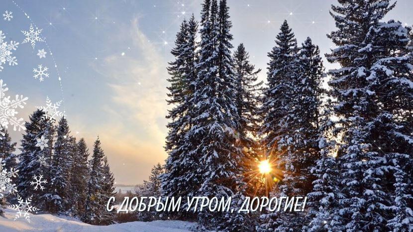 Открытка с добрым зимним утром бесплатно