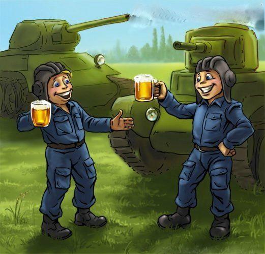 Днем театра, прикольные открытки к дню танкиста