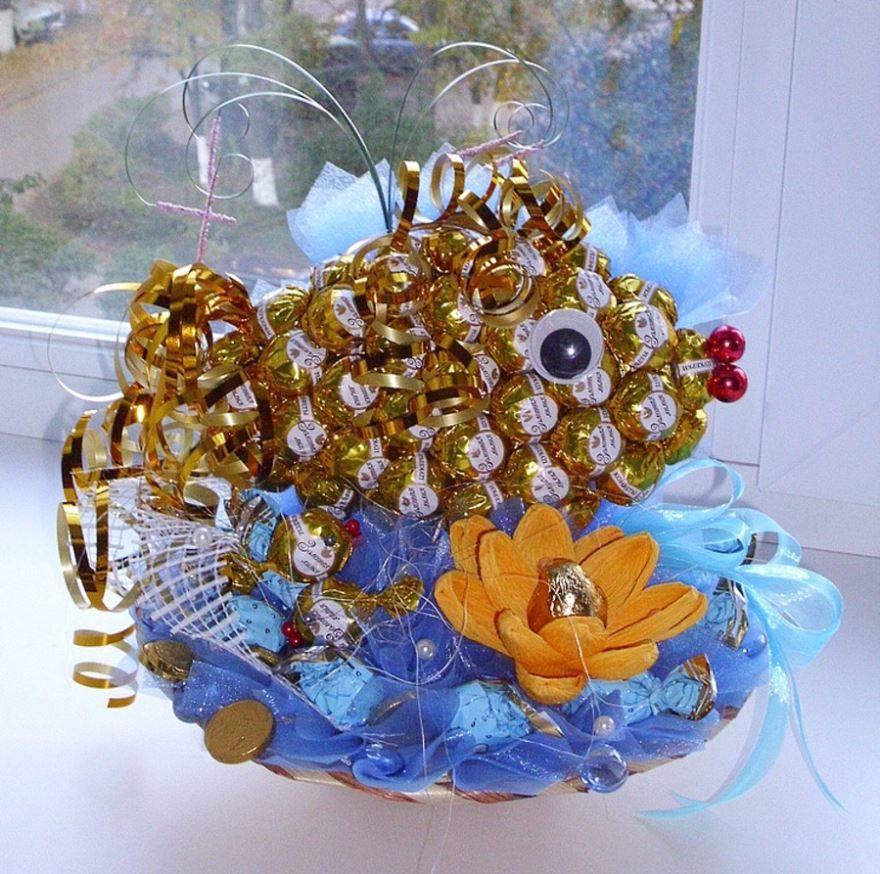 Подарок на Юбилей - золотая рыбка, любимой женщине