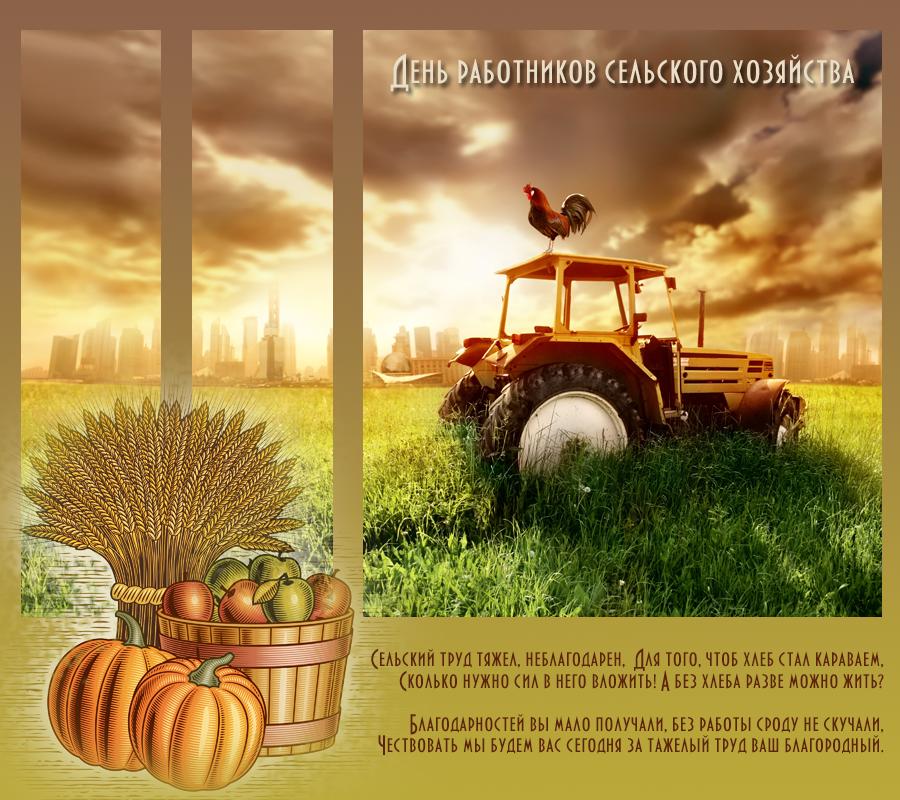 Спокойной ночи, открытка день сельского хозяйства и перерабатывающей промышленности