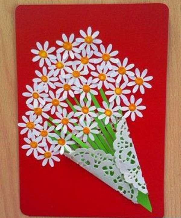 Подарок маме открытка своими руками в детском саду