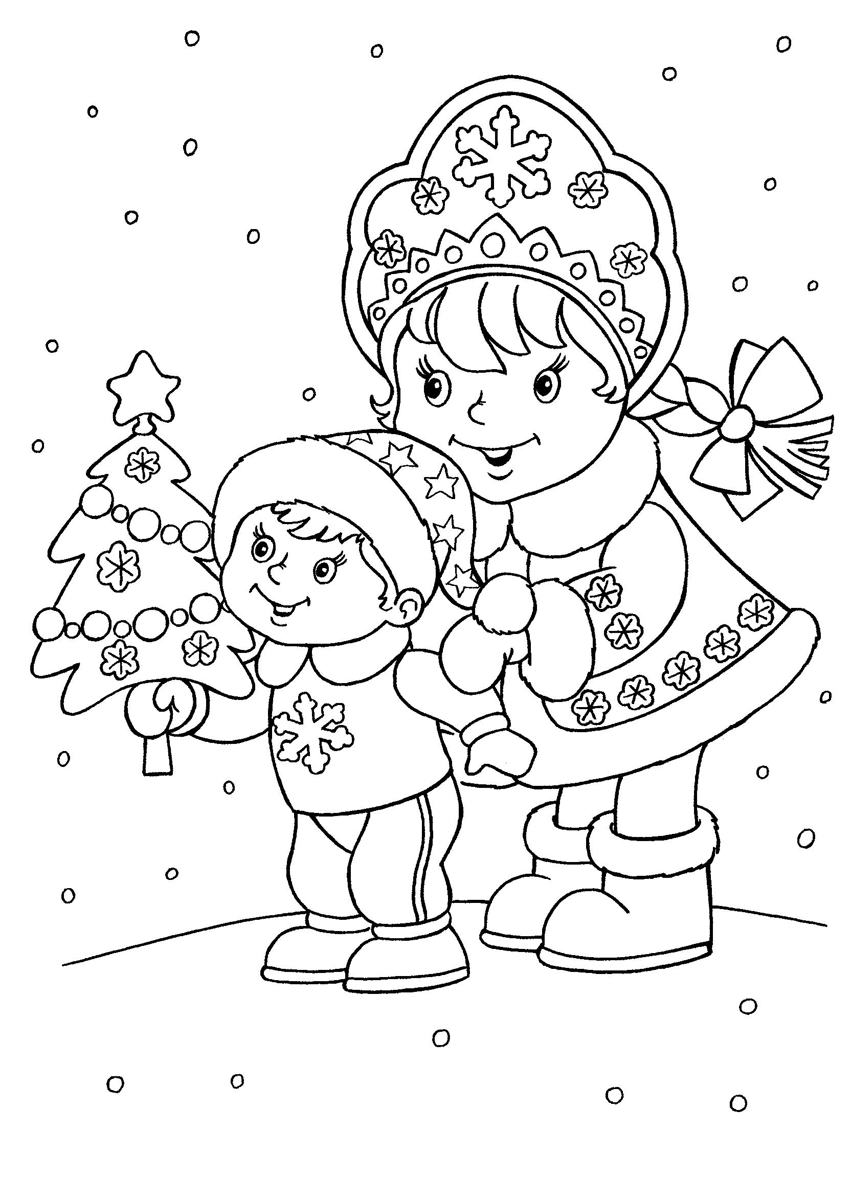 Картинки новый год детям раскраски