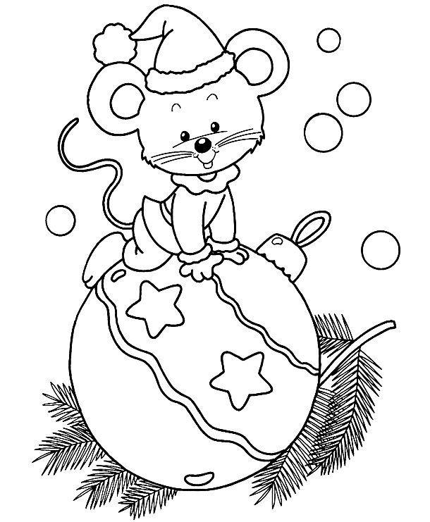 Раскраски на Новый год для девочек и мальчиков легкие ...