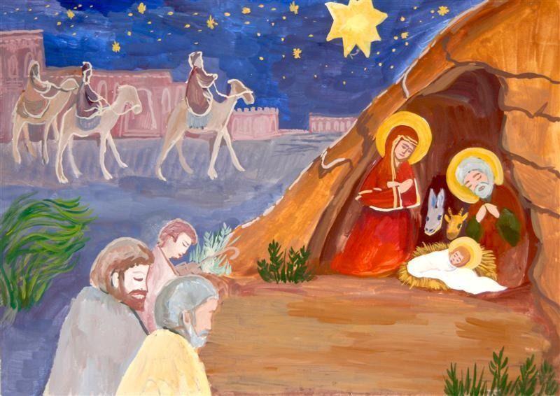 детям о рождестве с картинками темы творчества