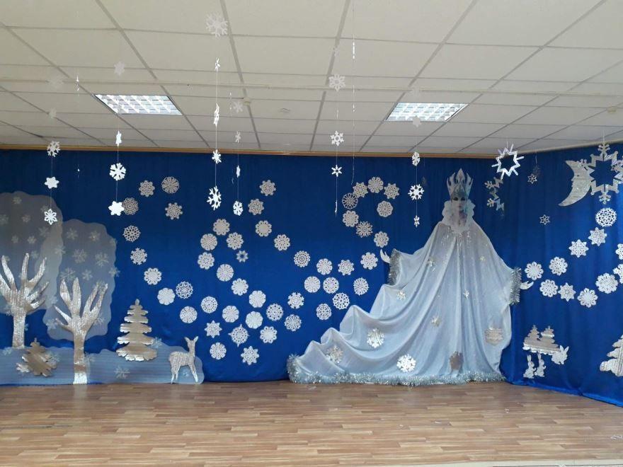 Картинка украшение зала к новому году