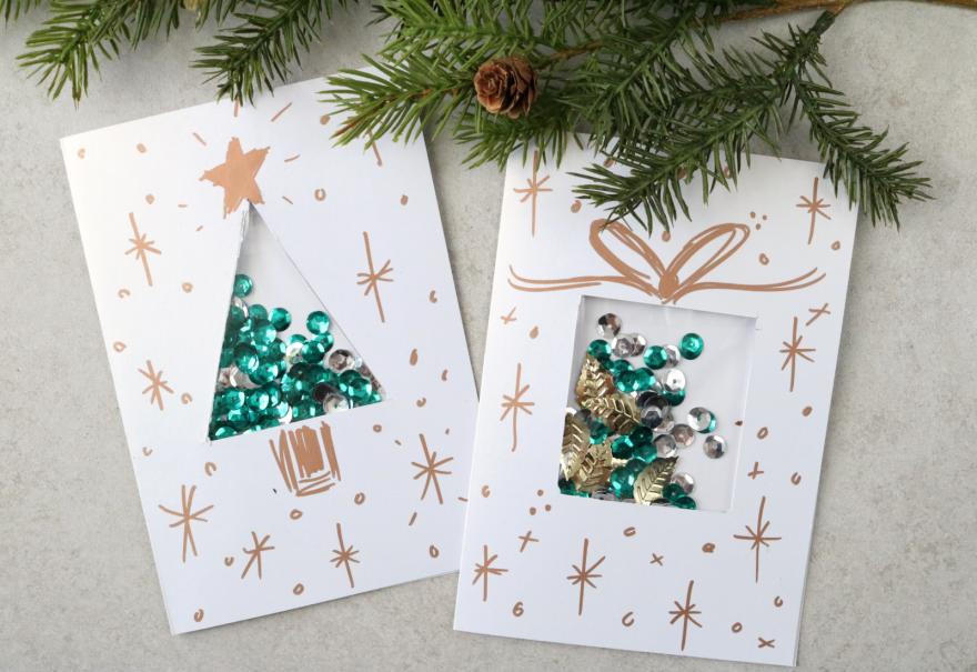 Идеи рождественских открыток своими руками