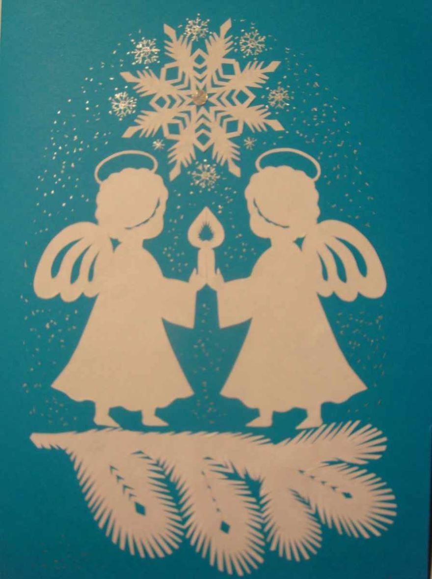 Поделки своими руками к рождеству открытки
