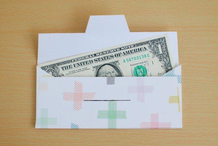 Красивый и оригинальный конверт для денег на праздник