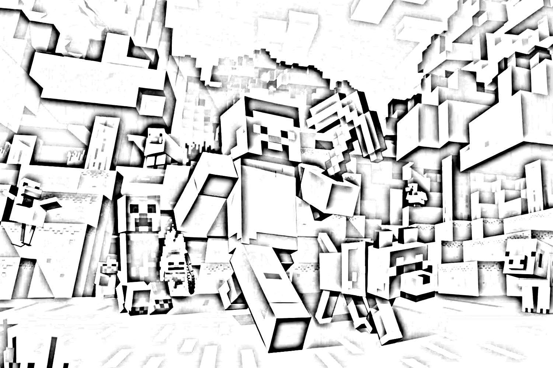 Майнкрафт - раскраска для детей, скачать и распечатать ...