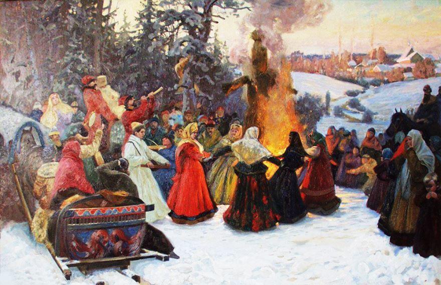 Скачать бесплатно красивую открытку русского народного праздника