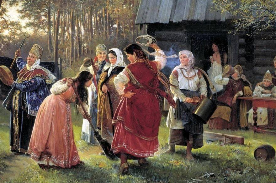Гуляния на празднике