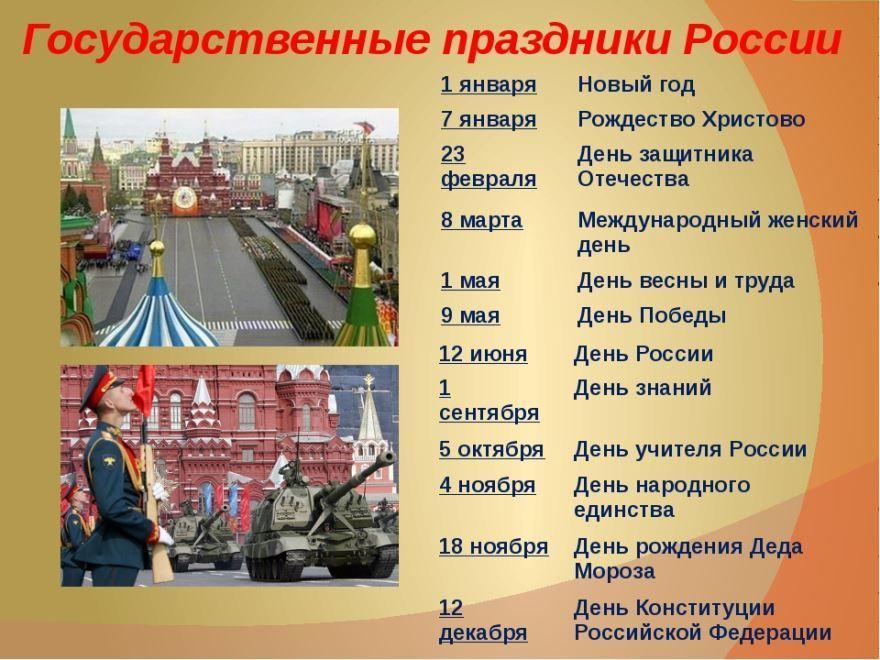 Официальные праздники России