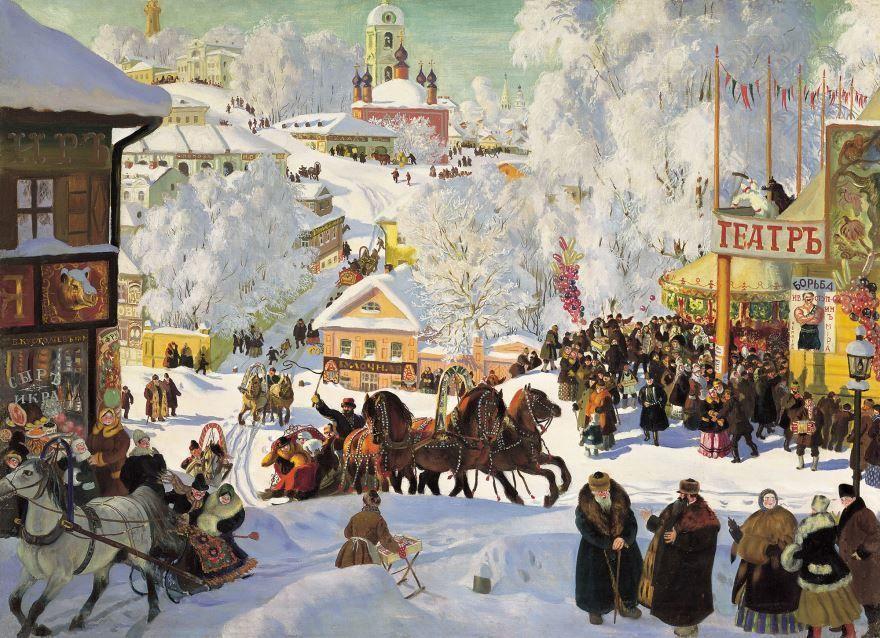 Зимний праздник Масленица