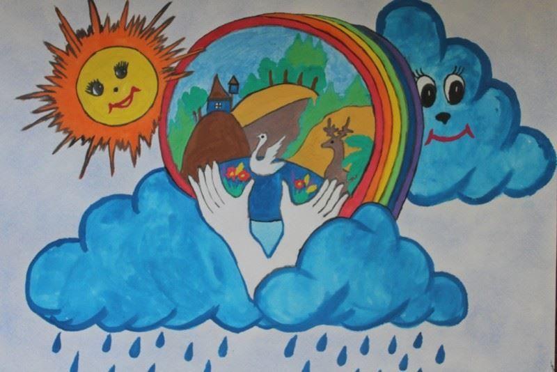 День защиты детей - идея рисунка