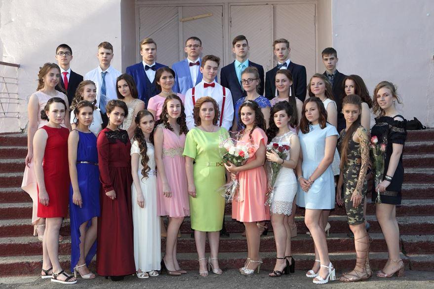 Фотография на выпускном 9 класса
