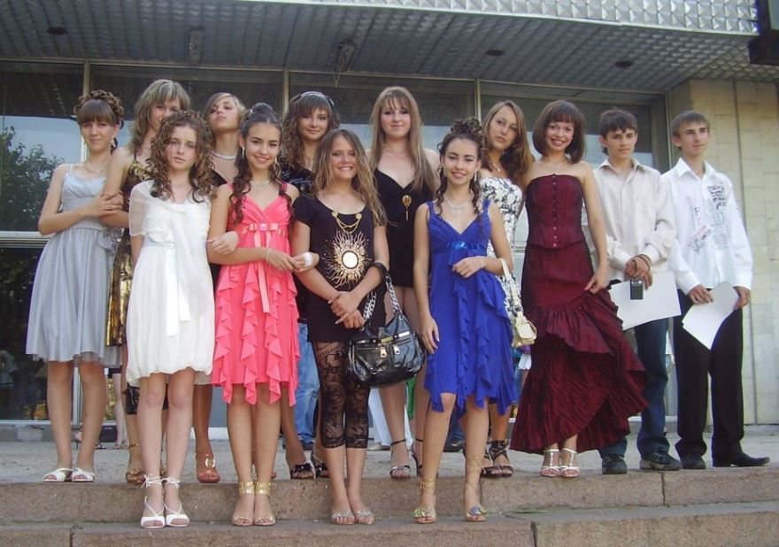 Красивые выпускники 9 класса