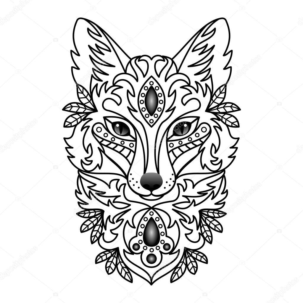 черные тату волк лиса лис кот кошка значение для мужчин женщин рука бедро нога предплечье кисть плечо запястье предплечье грудь спина
