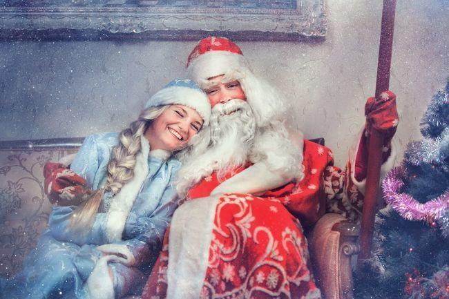 дед мороз снегурочка фото картинки бесплатно скачать