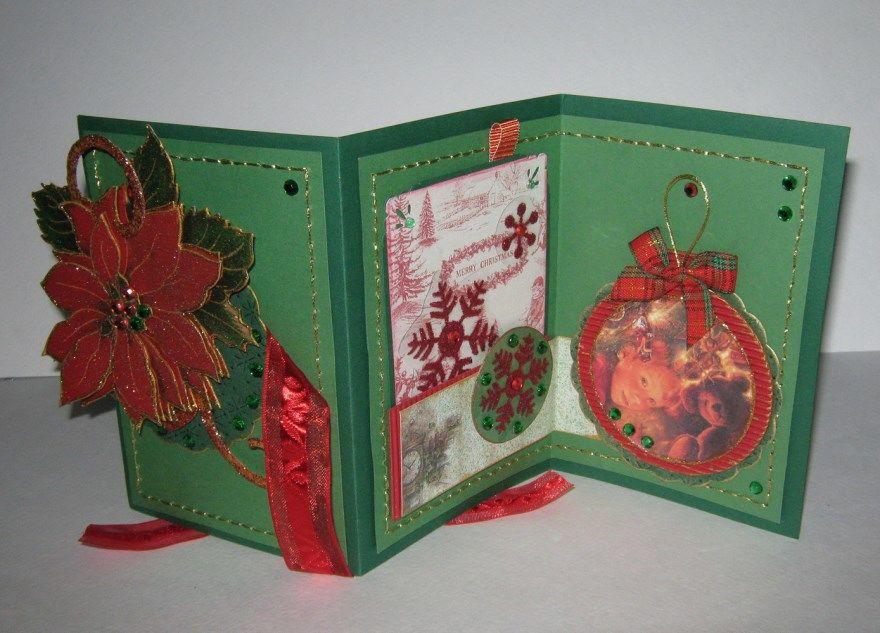 Открытки Рождество своими руками как сделать