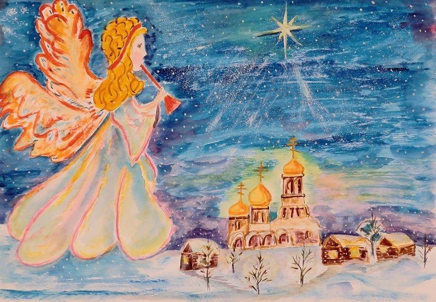 Рисунки Рождество Христово для детей 5 класс