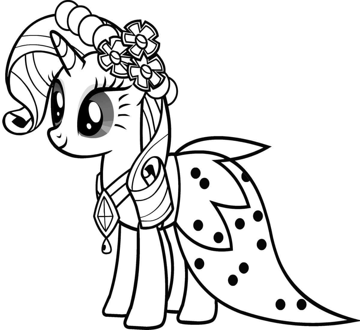 Раскраска для девочек май литл пони распечатать