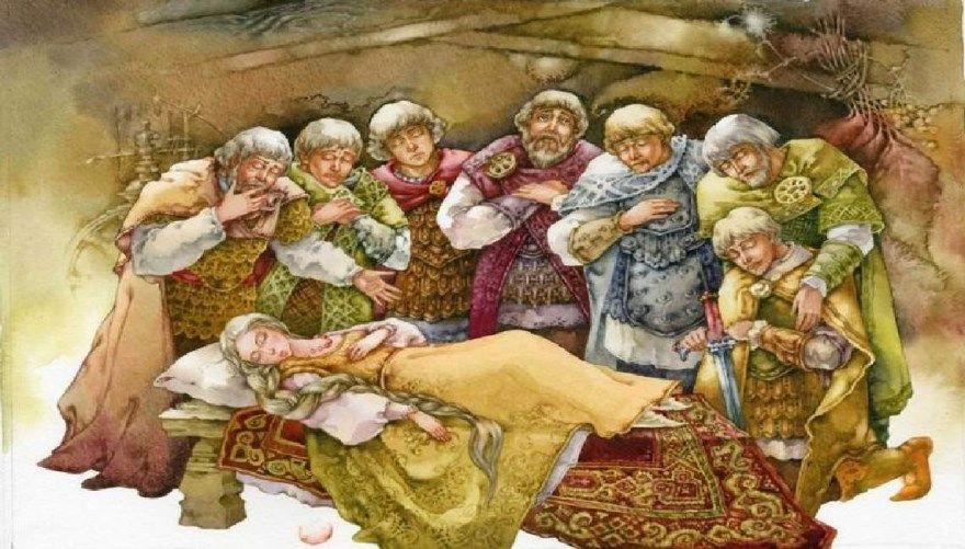 Сказка о мертвой царевне Пушкин читать текст полностью