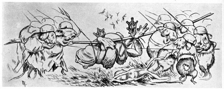 Война мышей и лягушек Жуковский читать текст полностью