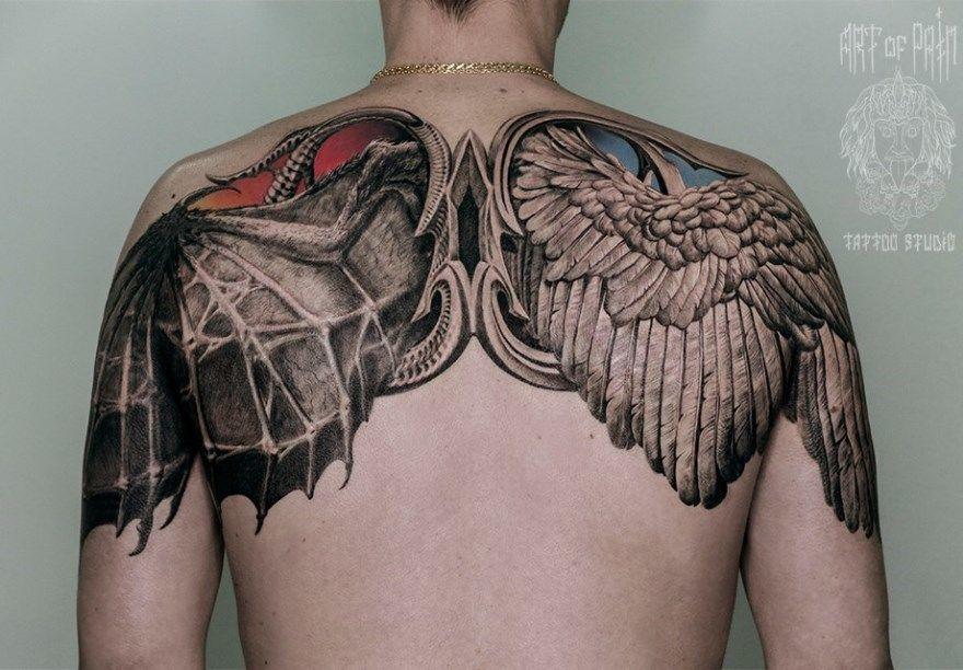 тату ангел значение для мужчин женщин рука бедро нога предплечье кисть плечо запястье предплечье грудь спина