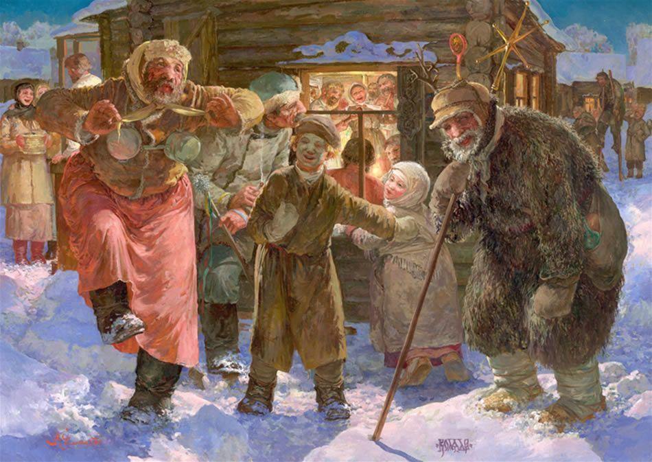 Зимние национальные праздники народов России картинки открытки фото
